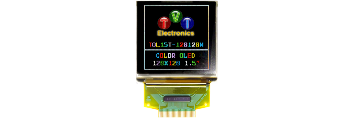 TOL15T-128128 Series RGB OLED Graphic LCD
